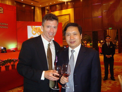 Ben Clarke with mayor of Wenzhou